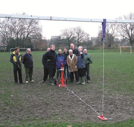 Goalpost strength & stability testing