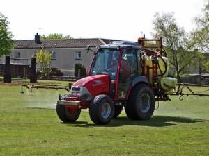 Grass Spraying