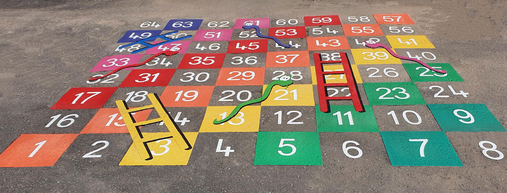 Snakes & Ladders 1-50