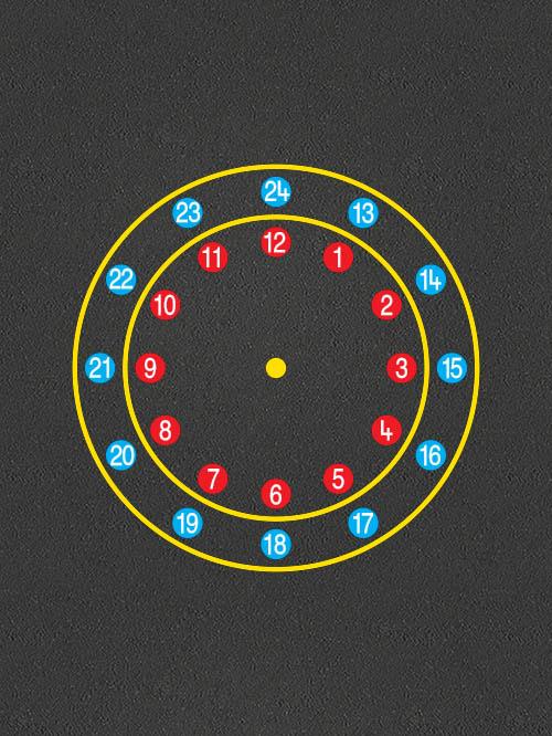 TME002-C24-24-Hour-Circles-Clock